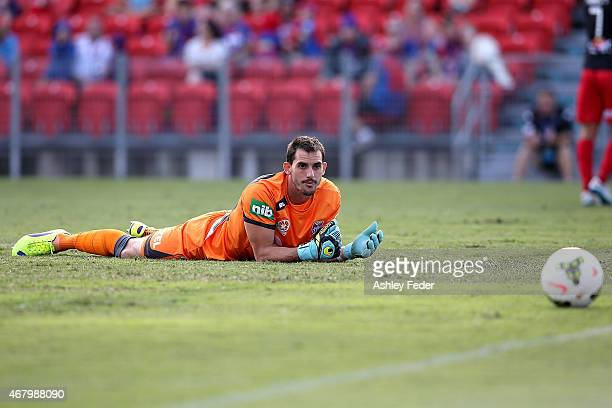 Ben Kennedy of the Jets looks dejected after letting a goal through during the round 23 ALeague match between the Newcastle Jets and Adelaide United...
