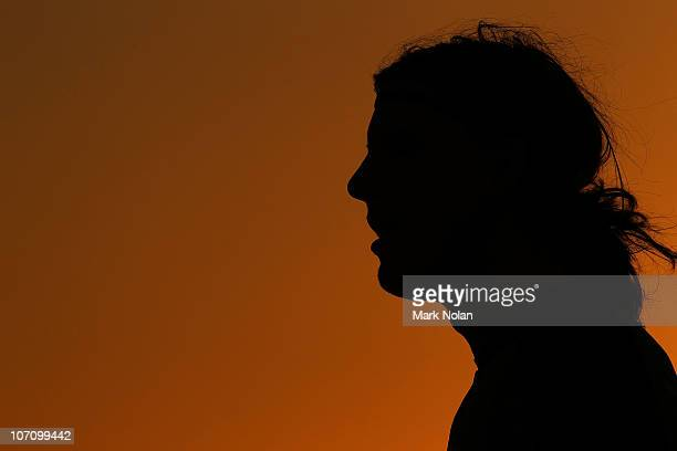 Ben Kennedy of the Jets watches on as the sun sets during the round 16 ALeague match between the Newcastle Jets and the Central Coast Mariners at...