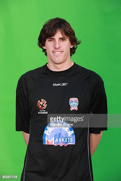 Ben Kennedy poses during the official Newcastle Jets 2008/2009 Hyundai ALeague portrait session at EnergyAustralia Stadium on July 14 2008 in...