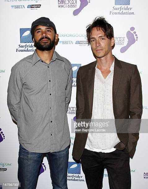 Ben Kenney and Brandon Boyd arrive at The Surfrider Foundation's 25th Anniversary Gala at the California Science Center's Wallis Annenberg Building...