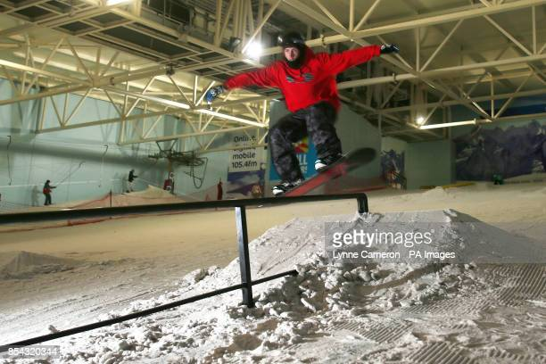 Ben Kilner from Aberdeenshire during the media day at Chill Factore Manchester