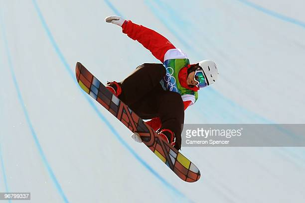 Ben Kilner of Great Britain and Northern Ireland competes in the Snowboard Men's Halfpipe on day six of the Vancouver 2010 Winter Olympics at Cypress...