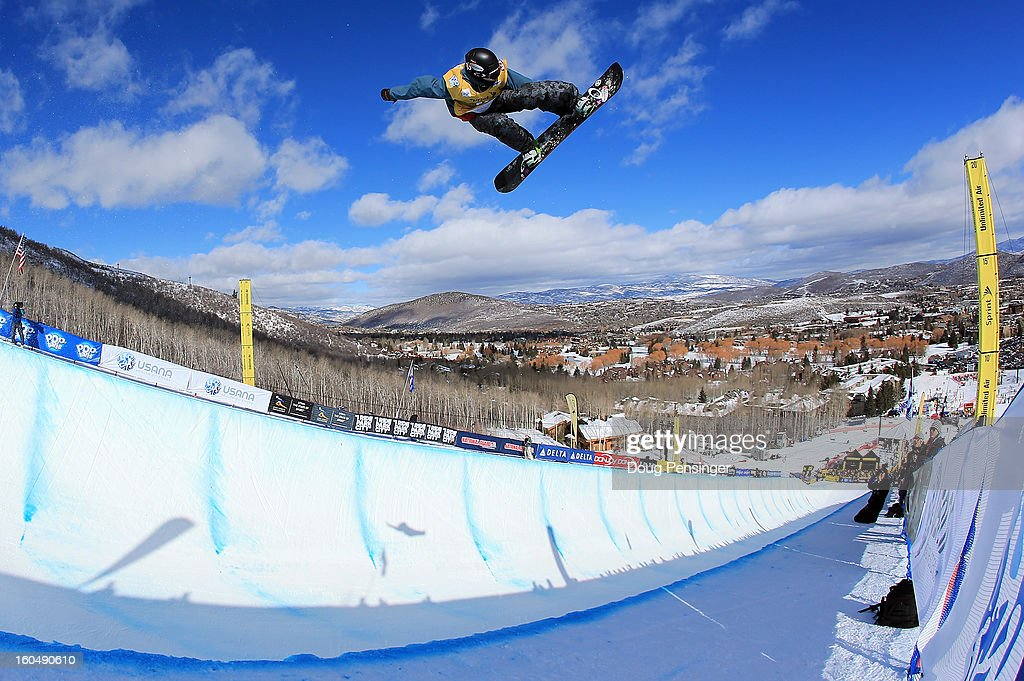 Ben Kilner of Great Britain competes in the FIS Snowboard Halfpipe World Cup Final at the Sprint U.S. Grand Prix at Park City Mountain on February 1, 2013 in Park City, Utah.