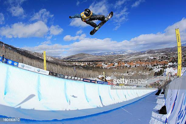 Ben Kilner of Great Britain competes in the FIS Snowboard Halfpipe World Cup Final at the Sprint US Grand Prix at Park City Mountain on February 1...