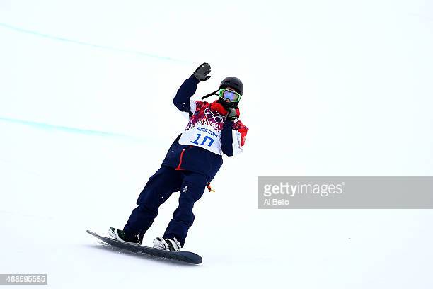 Ben Kilner of Great Britain competes in the Snowboard Men's Halfpipe Qualification Heats on day four of the Sochi 2014 Winter Olympics at Rosa Khutor...
