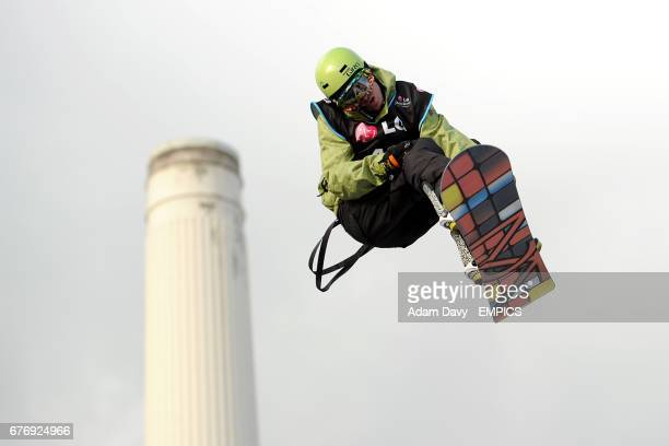 Ben Kilner of Great Britain during the LG Snowboard FIS World Cup in London