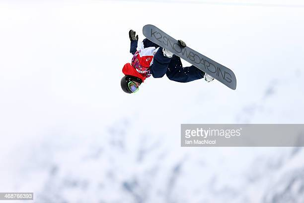 Ben Kilner of Great Britian competes in the Snowboard Men's Halfpipe on day four of the Sochi 2014 Winter Olympics at Rosa Khutor Extreme Park on...