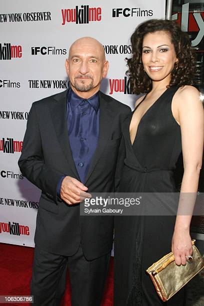 Ben Kingsley and Daniella Lavender during You Kill Me New York City Premiere Arrivals at IFC Center at 323 Sixth Avenue in New York City New York...