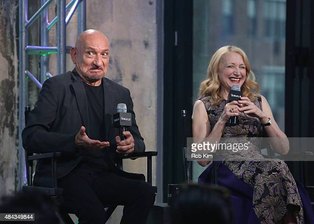 Ben Kingsley and Patricia Clarkson attend AOL's BUILD Speaker Series Present Learning To Drive at AOL Studios In New York on August 17 2015 in New...