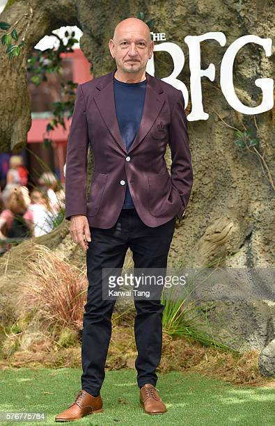 Ben Kingsley arrives for the UK film premiere of 'The BFG' at Odeon Leicester Square on July 17 2016 in London England