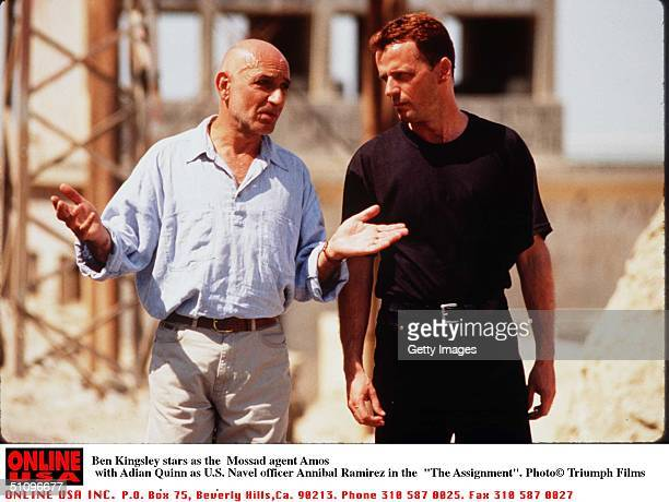 """Ben Kingsley As The Mossad Agent Amos With Aidan Quinn As U.S. Navel Officer Annibal Ramirez In """"The Assignment"""""""