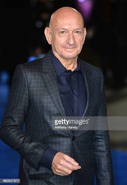 Ben Kingsley attends the UK Premiere of 'Night At The Museum Secret Of The Tomb' at Empire Leicester Square on December 15 2014 in London England