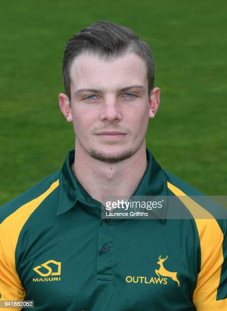 Ben Kitt of Nottinghamshire County Cricket Club poses for a portrait during the Nottinghamshire CCC Photocall at Trent Bridge on April 4 2018 in...
