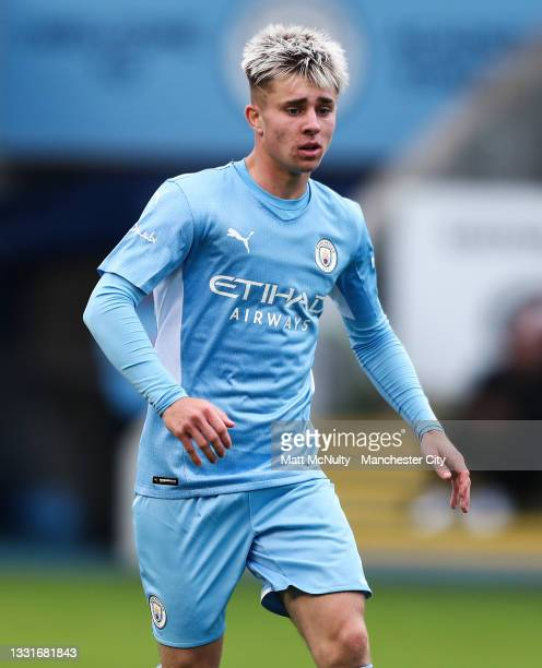 Ben Knight of Manchester City in action during the pre-season friendly match between Manchester CIty and Barnsley at Manchester City Football Academy...