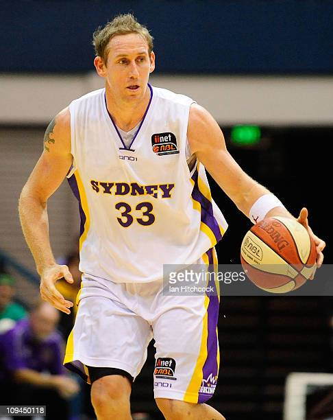 Ben Knight of the Kings dribbles the ball during the round 20 NBL match between the Townsville Crocodiles and the Sydney Kings at Townsville...