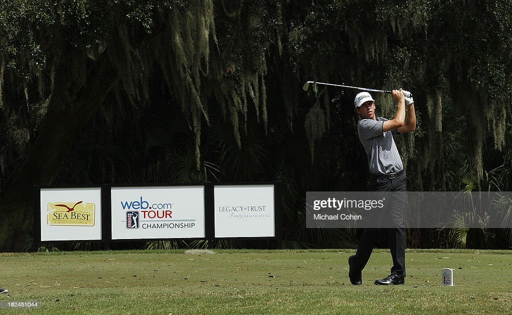 Ben Kohles hits his drive on the third hole during the final round of the Web.com Tour Championship held on the Dye's Valley Course at TPC Sawgrass on September 29, 2013 in Ponte Vedra Beach, Florida.