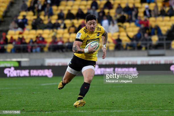 Ben Lam of the Hurricanes during the round 2 Super Rugby Aotearoa match between the Hurricanes and the Crusaders at Sky Stadium on June 21 2020 in...