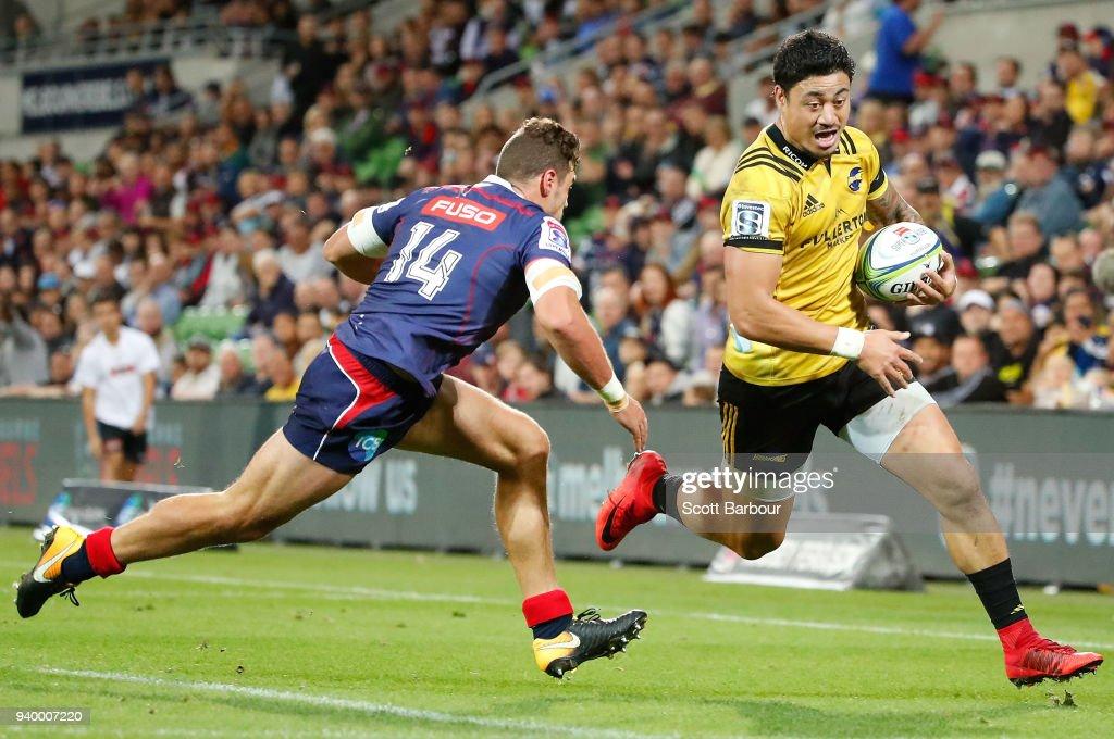 Super Rugby Rd 7 - Rebels v Hurricanes : News Photo