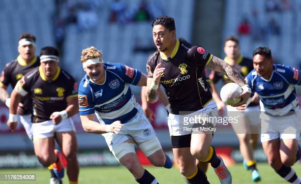 Ben Lam of Wellington during the round 7 Mitre 10 Cup match between Auckland and Wellington at Eden Park on September 22 2019 in Auckland New Zealand