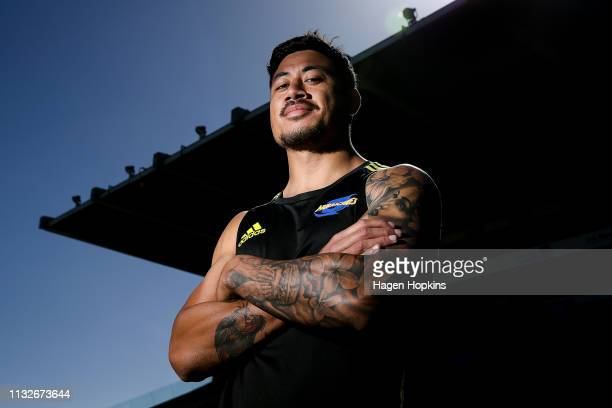 Ben Lam poses during a Hurricanes captain's run at Central Energy Trust Arena on February 28 2019 in Palmerston North New Zealand