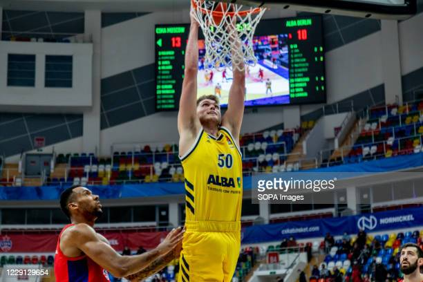 Ben Lammers #50 of Alba Berlin in action against CSKA Moscow during the Turkish Airlines EuroLeague Round 4 of 20202021 season at the Megasport Arena...