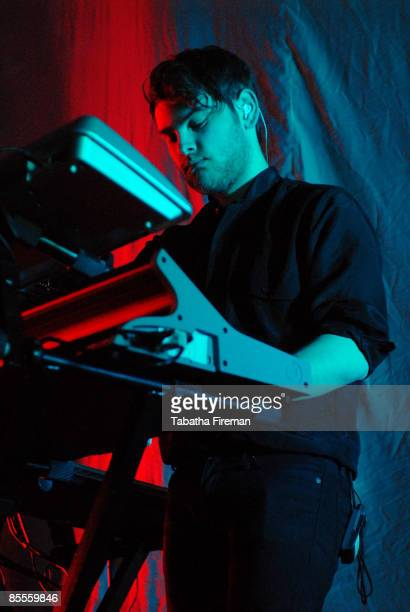 Ben Langmaid of La Roux performs on stage at The Corn Exchange at Brighton Dome on March 20 2009 in Brighton England