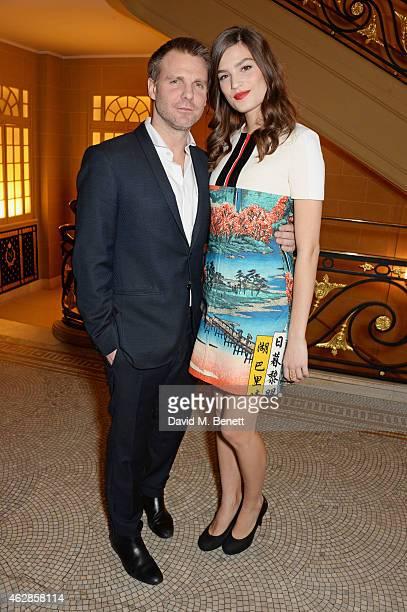 Ben LathamJones and Alma Jodorowsky attend the Lancome Loves Alma PreBAFTA party at Cafe Royal on February 6 2015 in London England