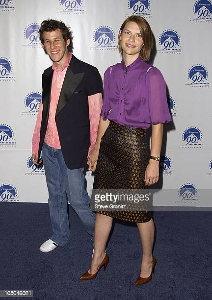 Ben Lee Claire Danes during Paramount Pictures Celebrates 90th Anniversary With 90 Stars for 90 Years at Paramount Pictures in Los Angeles California...