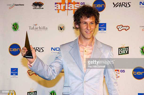 Ben Lee poses in the media room at the 19th Annual ARIA Awards at the Sydney SuperDome on October 23, 2005 in Sydney, Australia. The ARIA Awards...