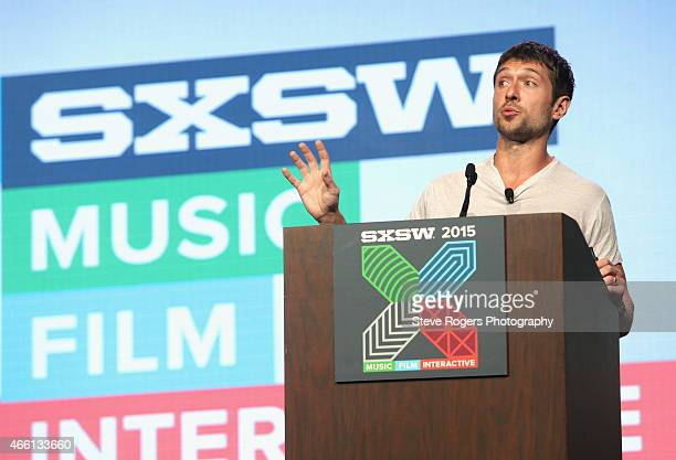 Ben Lerer cofounder and CEO of Thrillist Media Group speaks onstage during 'Back To The Future Of Media' during the 2015 SXSW Music Film Interactive...