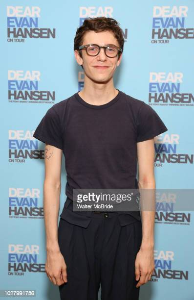 Ben Levi Ross attends the National Tour Photo Call for 'Dear Evan Hansen' on September 6 2018 at the New 42nd Street Studios in New York City