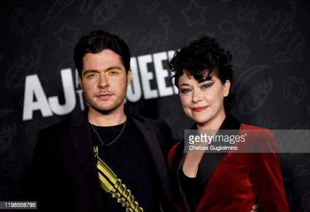 Ben Lewis and Tatiana Maslany attend the premiere of Netflix's AJ and the Queen Season 1 at the Egyptian Theatre on January 09 2020 in Hollywood...