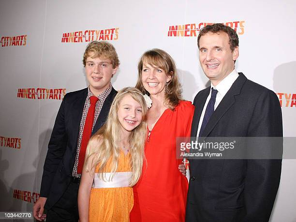 Ben Lily Monica and Philip Rosenthal arrive at The 2009 20th Anniversary Inner City Arts Imagine Gala And Auction held at The Beverly Hilton Hotel on...