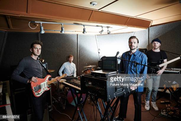 Ben Little Chris Talbot Hayden Thorpe and Tom Fleming of English indie rock group Wild Beasts photographed at a rehearsal studio in London on June 13...