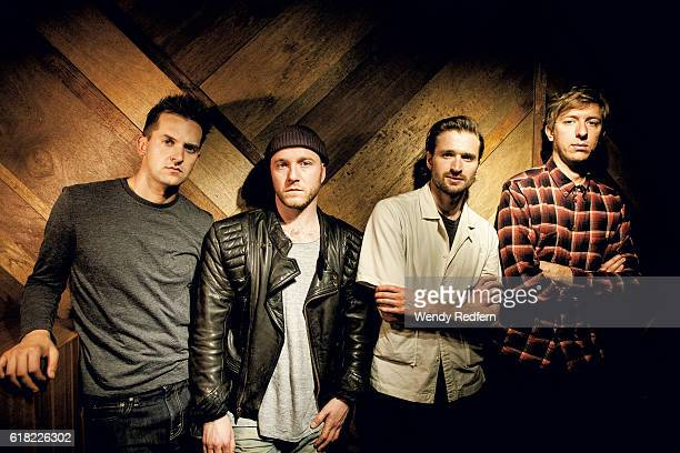 Ben Little Tom Fleming Hayden Thorpe Chris Talbot of Wild Beasts pose for a group portrait on July 21st 2016 in London