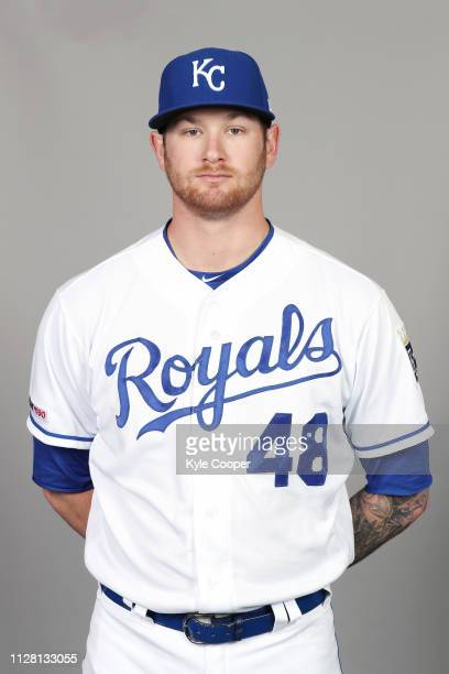Ben Lively of the Kansas City Royals poses during Photo Day on Thursday February 21 2019 at Surprise Stadium in Surprise Arizona