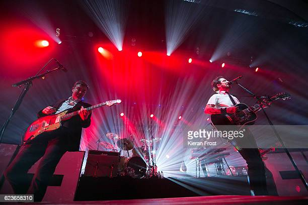 Ben Lloyd and Frank Turner of Frank Turner and The Sleeping Souls performs at Olympia Theatre on November 16 2016 in Dublin Ireland