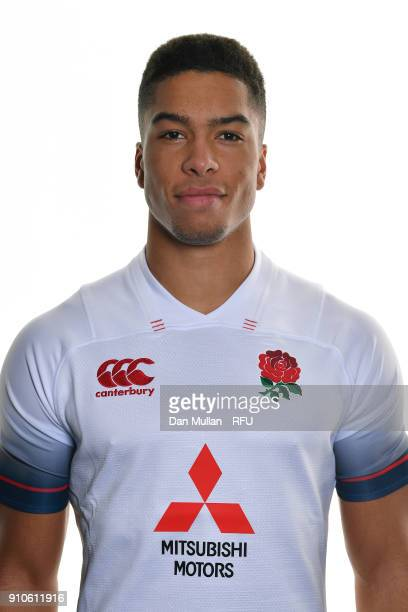 Ben Loader of England poses for a portrait during the England U20 Squad Photo call at Bisham Abbey on January 10 2018 in Marlow England