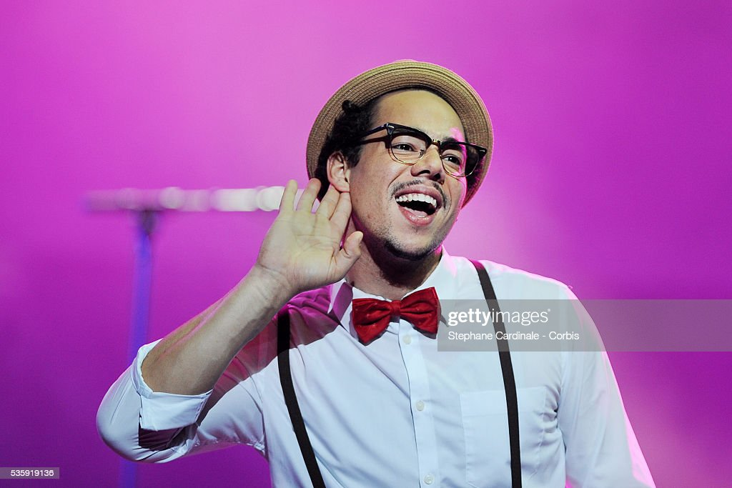Ben L'Oncle Soul performs live during the celebration of Prix Constantin 2010 at L'Olympia, in Paris