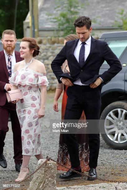 Ben Lovett arriving at Rayne Church in Kirkton on Rayne for the wedding of Kit Harrington and Rose Leslie on June 23 2018 in Aberdeen Scotland