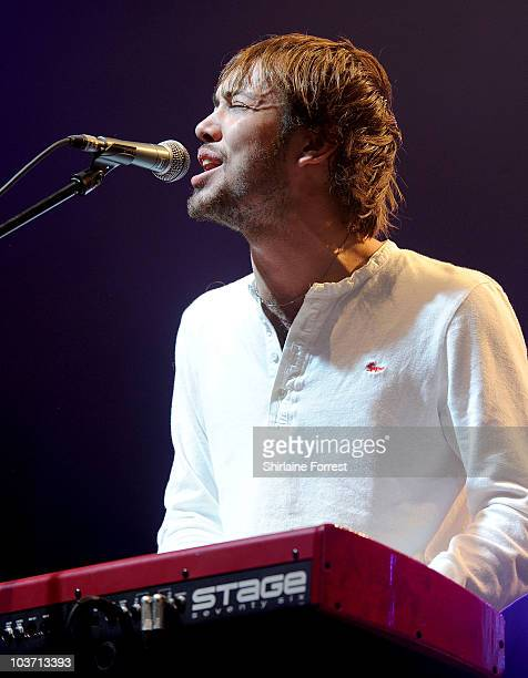 Ben Lovett of Mumford and Sons performs on day three of the Leeds Festival at Branham Park on August 29 2010 in Leeds England