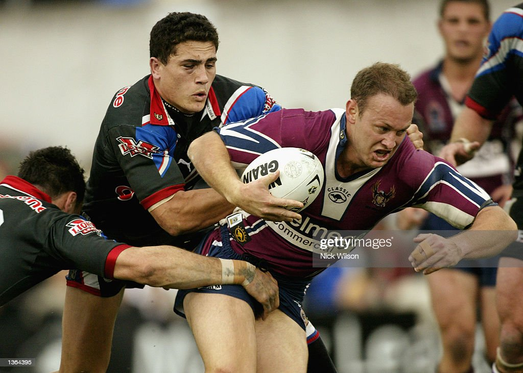 Ben MacDougall #4 of the Eagles in action during the round 25 NRL match between the Northern Eagles and the New Zealand Warriors played at Brookvale Oval, Sydney, Australia on September 1st 2002. (Photo by Nick Wilson/Getty Images).