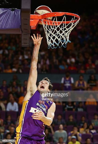Ben Madgen of the Kings drives to the basket during the round nine NBL match between the Sydney Kings and the New Zealand Breakers at Qantas Credit...