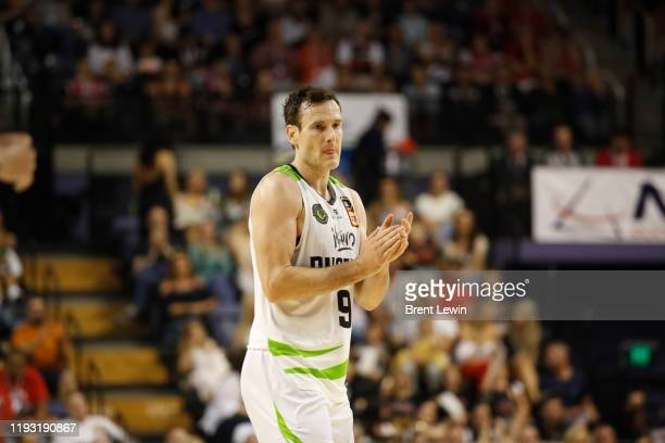 Ben Madgen of the Phoenix claps during the round 15 NBL match between the Illawarra Hawks and the South East Melbourne Phoenix at WIN Entertainment...