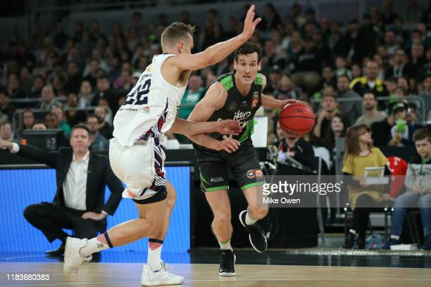 Ben Madgen of the Phoenix dribbles during the round four NBL match between the South East Melbourne Phoenix and the Adelaide 36ers at Melbourne Arena...
