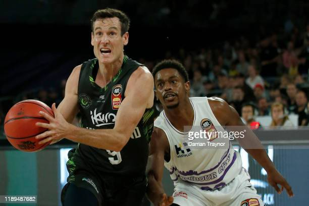 Ben Madgen of the Phoenix drives to the basket during the round 8 NBL match between the South East Melbourne Phoenix and the Sydney Kings at...