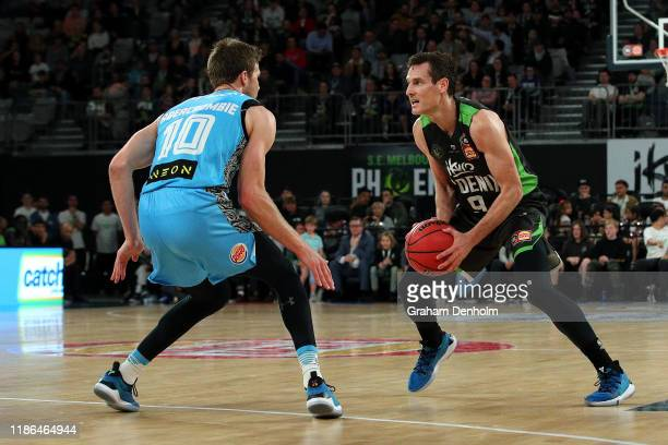 Ben Madgen of the Phoenix in action during the round six NBL match between the South East Melbourne Phoenix and the New Zealand Breakers at Melbourne...
