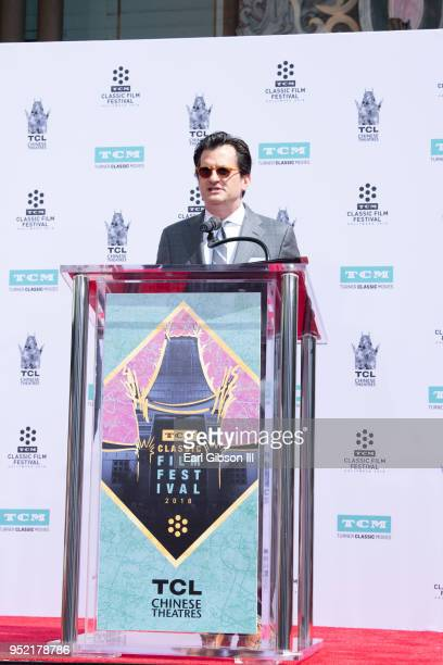 Ben Mankiewicz speaks at Cicely Tyson's Hand And Footprint Ceremony at TCL Chinese Theatre IMAX on April 27 2018 in Hollywood California