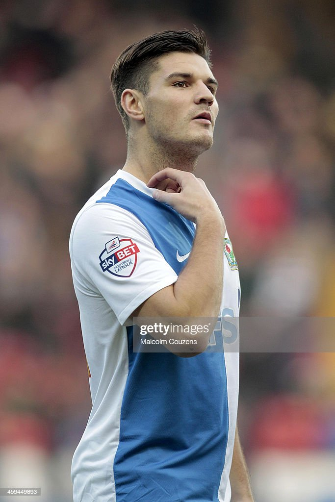 Ben Marshall of Blackburn Rovers during the Sky Bet Championship match between Blackburn Rovers and Sheffield Wednesday at Ewood Park on December 26, 2013 in Blackburn, England.