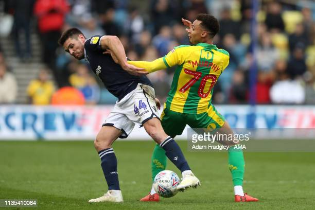 Ben Marshall of Millwall and Jacob Murphy of West Bromwich Albion during the Sky Bet Championship match between Millwall and West Bromwich Albion at...